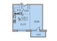 SUNCITY (Сан Сити), дом 6: 1-комнатная 47,2 кв.м