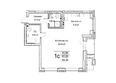 Жилой комплекс ЯДРИНЦЕВСКИЙ КВАРТАЛ: 1-комнатная студия 65,6 кв.м. Блок-секция 1