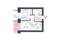 SCANDIS (Скандис), дом 9: Планировка двухкомнатной квартиры 41 кв.м