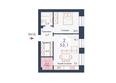 SCANDIS (Скандис), дом 8: Планировка двухкомнатной квартиры 53,1 кв.м