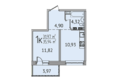 SUNCITY (Сан Сити), дом 6: 1-комнатная 35,75 кв.м