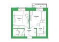 Малахит, дом 6: Планировка 2-комн 37,37 м²