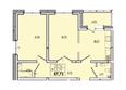 Жилой комплекс КОРИЦА, дом 3: 2-комнатная 57,73 кв.м.