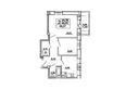 САДОВЫЙ, дом 10: Планировка двухкомнатной квартиры 48,27 кв.м
