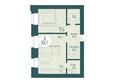 SCANDIS OZERO (Скандис Озеро), д. 1: 2-комнатная 53,1 кв.м