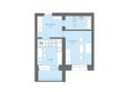 Жилой комплекс Да Винчи, дом 6: 1-комнатная 41,51 кв.м