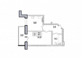 Первый Ленинский квартал, д. 1: 1-комнатная 37,3 кв.м