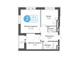 Жилой комплекс ОГНИ СИБИРИ, дом 4: 2-комнатная 59,07 кв.м