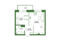 Life (Лайф), дом 1, б/с 1: Планировка 1-комн 40,1, 40,44 м²