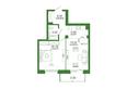 Life (Лайф), дом 2, б/с 2: 1-комнатная 49,94 кв.м