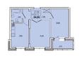 КОРИЦА, дом 3: 2-комнатная 54,56 кв.м.