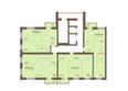 Жилой комплекс Академгородок, дом 1, корп 2: Корпус 2. Подъезд 7. Планировка 7-16 этажей
