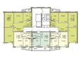 Жилой комплекс ВЕНЕЦИЯ-2, дом 6: Подъезд 1. Планировка 13-17 этажей