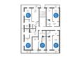 Жилой комплекс НА БОЛЬШОЙ ПОДГОРНОЙ, Б/С 7,8: Планировка типового этажа, 8 б/с
