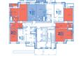 Жилой комплекс ВЕРХНИЙ БУЛЬВАР, дом 3, Б/С «В» и «Г»: Блок-секция В. Планировка типового этажа