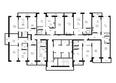 Жилой комплекс VIVANOVA (Виванова): Подъезд 1. Планировка типового этажа