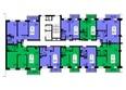 Жилой комплекс СЕРЕБРЯНЫЙ, квр В, дом 4: Блок-секция №3. Планировка типового этажа