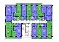 НОВЫЕ ЧЕРЕМУШКИ: Планировка типового этажа, секция 1