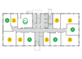 Жилой комплекс ЯСНЫЙ БЕРЕГ, дом 12: Планировка типового этажа