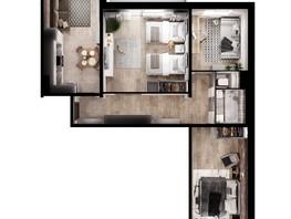 3-комнатная квартира, 76.37  м², 1-14/14 этаж