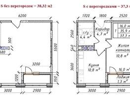 1-комнатная квартира, 38.21  м², 4/12 этаж