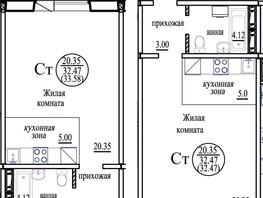 Студия, 33.58  м², 4/10 этаж