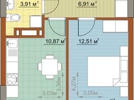 1-комнатная квартира, 34.2  м², 6/22 этаж