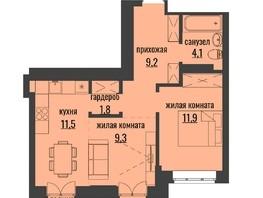 2-комнатная квартира, 50.62  м², 23/24 этаж