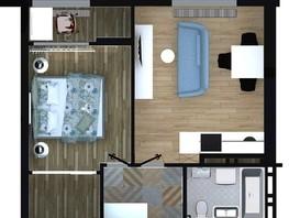 2-комнатная квартира, 45.71  м², 5-13/16 этаж