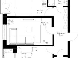 2-комнатная квартира, 59.2  м², 6/24 этаж