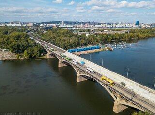 Ремонт Коммунального моста с высоты (фото)