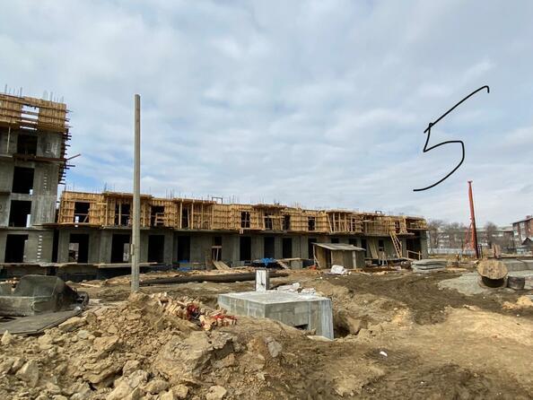 Ход строительства 6 апреля 2021