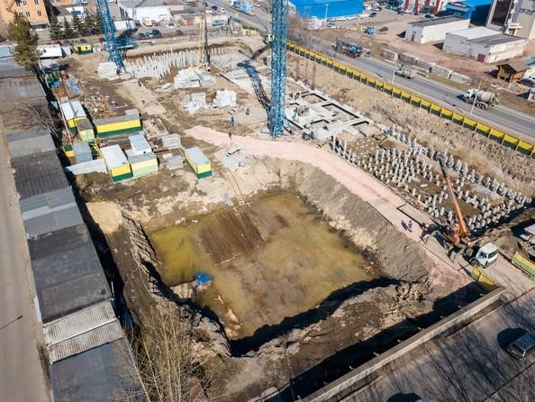 Фото Жилой комплекс НА ВЫСОТЕ, 2 этап, Ход строительства 7 апреля 2019