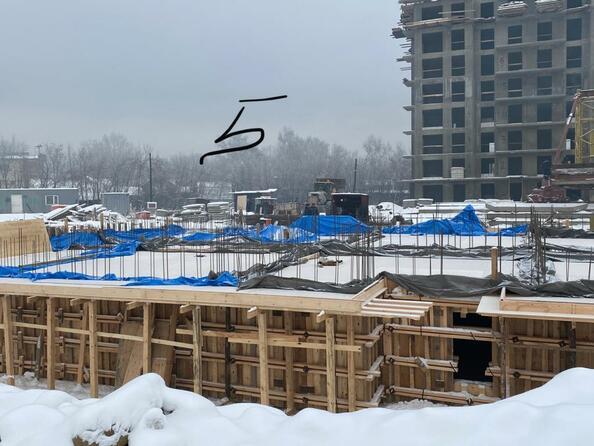 Блок-секция 5. Ход строительства 11 января 2021