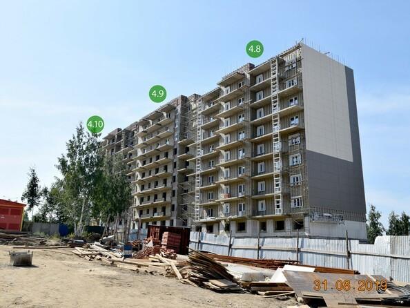 Фото Жилой комплекс ЭВОЛЮЦИЯ, 2 оч, б/с 4-8,9,10, Ход строительства 31 августа 2019