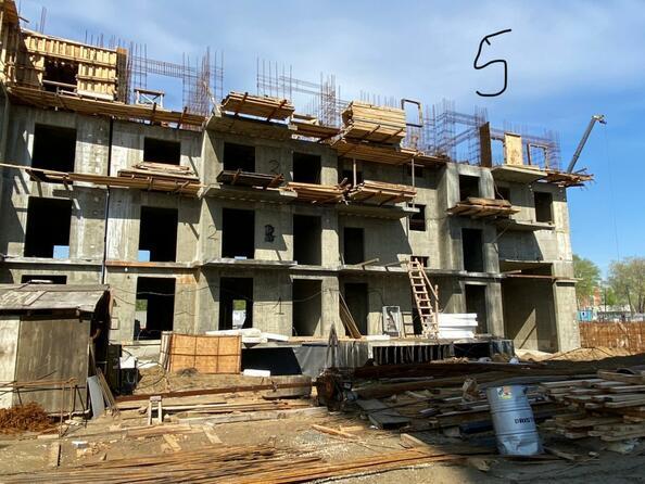 Ход строительства 2 июня 2021. Блок-секция 5