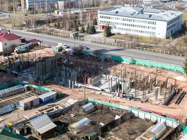 Фото Жилой комплекс КУРЧАТОВА, дом 6, стр 1, Ход строительства 24 апреля 2018