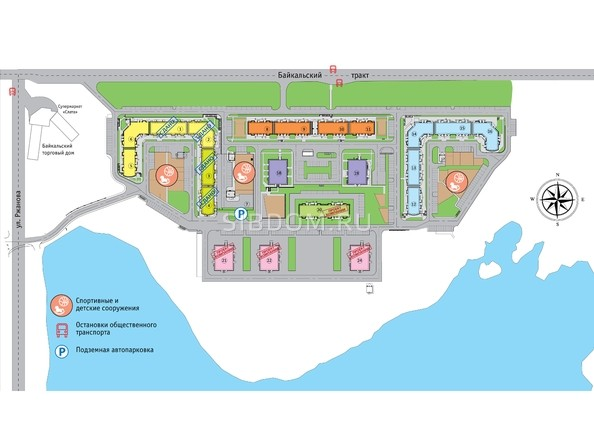 Схема расположения домов ЖК Символ