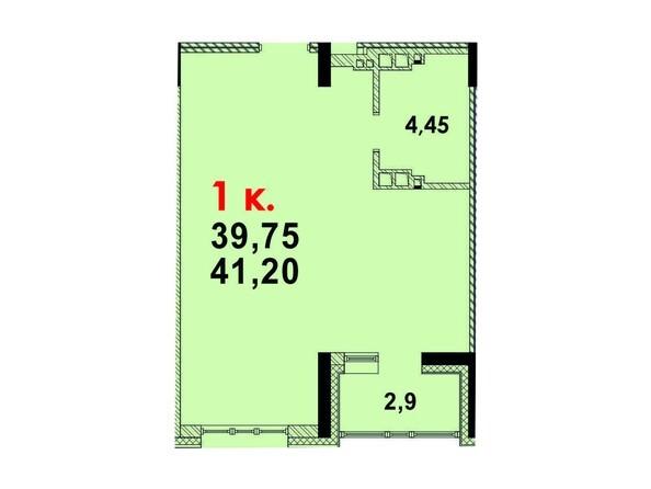 Планировка 1-комн 40,94 м²