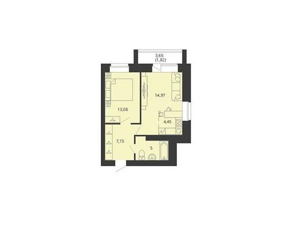 Планировка двухкомнатной квартиры 47,05 кв.м