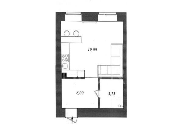 Планировка Студия 30 м²