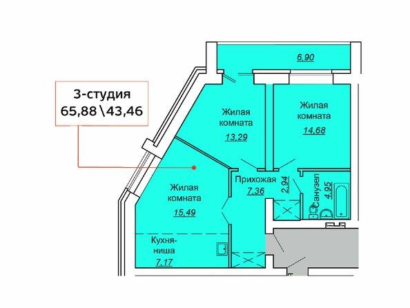 Планировки Жилой комплекс ВЕСЕННИЙ, Заречная 21, дом 3