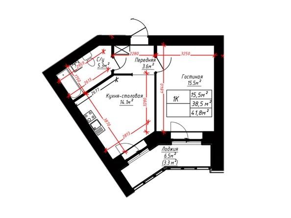 1-комнатная  кв.м