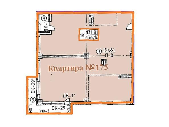 Планировки Жилой комплекс Овражный, дом 2 - Свободная планировка квартиры 136,16 кв.м