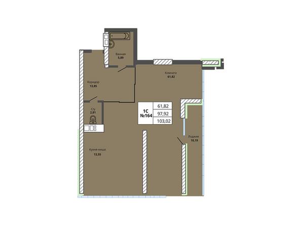 Планировки Жилой комплекс PRIME HOUSE (Прайм хаус) - Планировка однокомнатной квартиры 97,92 кв.м