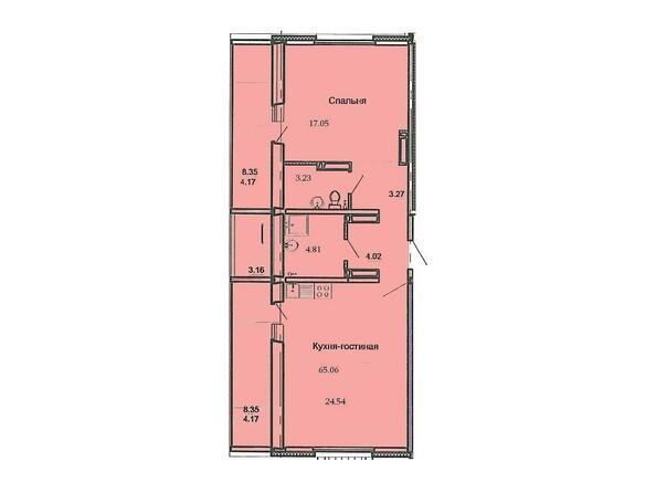 Планировка 2-комн 65,6 м²
