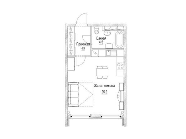 Планировка 1-комн 36,1 м²