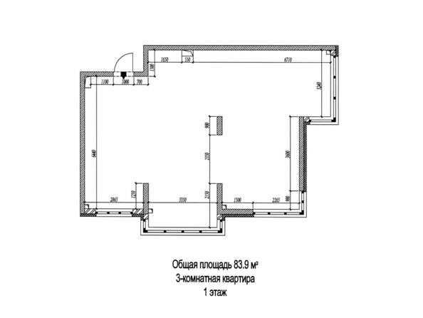 Планировки Жилой комплекс РОДНЫЕ ПРОСТОРЫ - 3-комнатная 83,9 кв.м