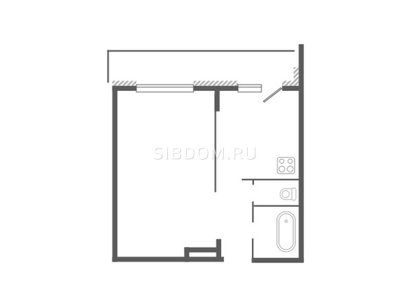 Планировка 1-комн 36 - 37,6 м²