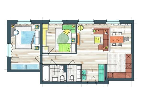 Планировки Жилой комплекс ПРЕОБРАЖЕНСКИЙ, дом 22, этап 2 - Планировка трехкомнатной квартиры 81,6 кв.м